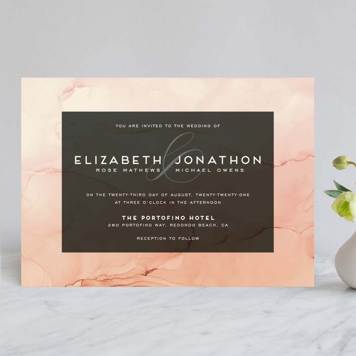 """""""Ombio"""" - Modern Wedding Invitations in Aqua by GeekInk Design."""