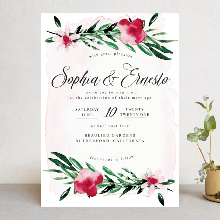 Garden Party Joy Wedding Invitations by frances Minted