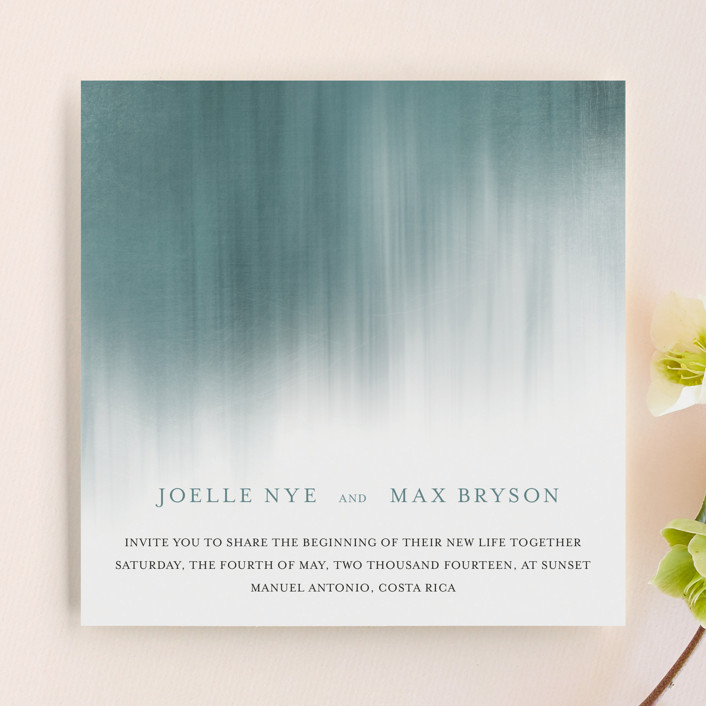 Modern Beach Wedding Invitations by Paper Plains | Minted