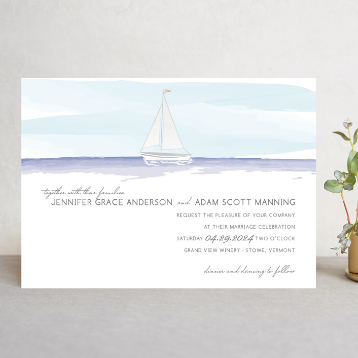 """Set Sail"" - Wedding Invitations in Mediterranean by Sarah Brown."