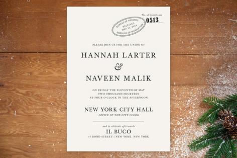 City Hall Wedding Invitations