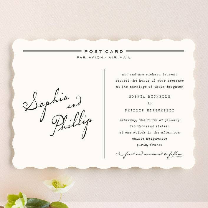 """""""Airmail"""" - Vintage Wedding Invitations in Ivory by annie clark."""