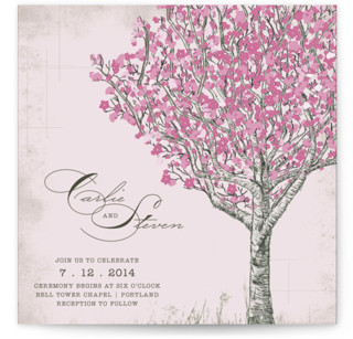 photo of Cherry Blossom Wedding Invitations