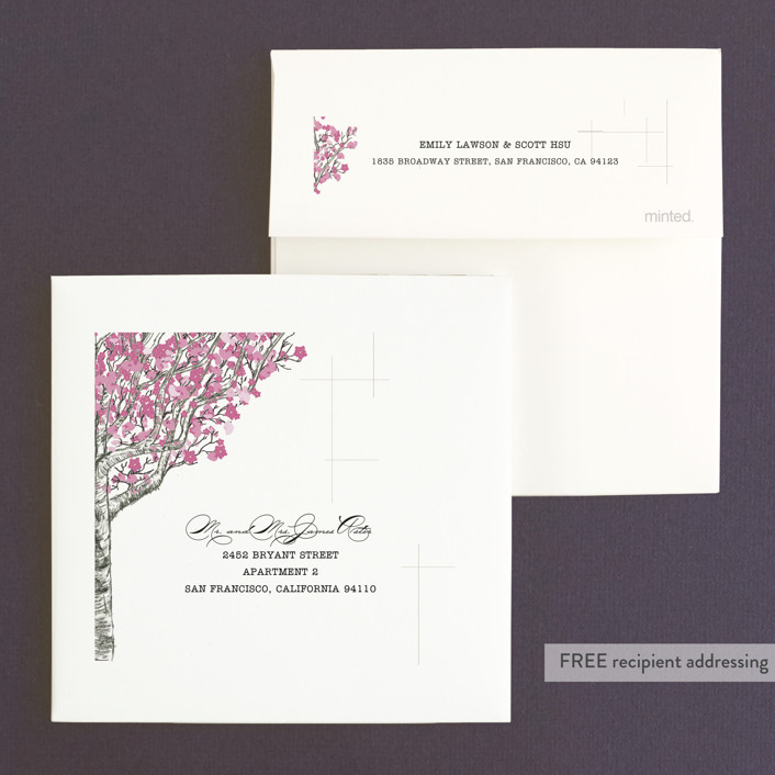 Cherry Blossom Wedding Invitations by Jenifer Martino | Minted