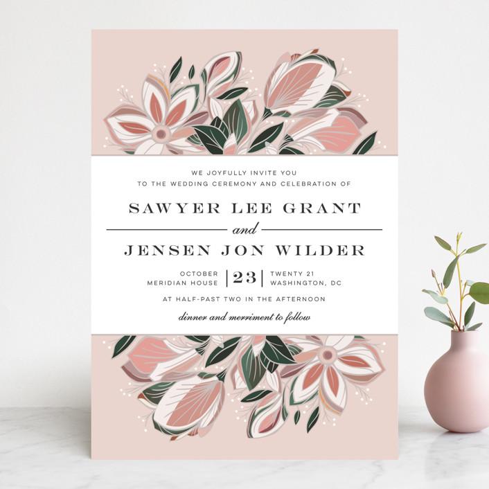 """Sawyer"" - Wedding Invitations in Cloisonne by Melanie Kosuge."
