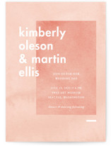 This is a pink wedding invitation by Liz Conley called Contemporary with standard printing on signature in standard.