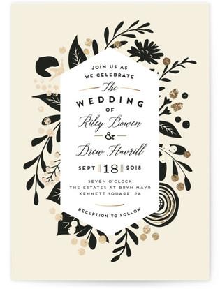 Statement Florals Wedding Invitations