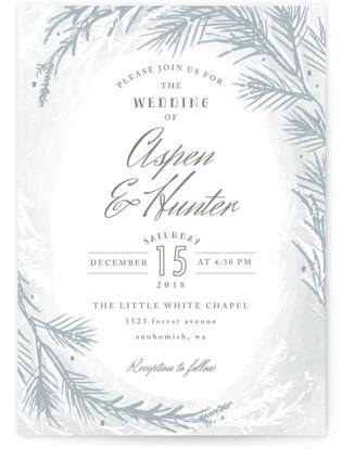 Winter Dream Wedding Invitations