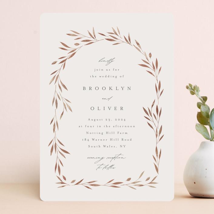 """Lennox"" - Wedding Invitations in Harvest by Kristie Kern."