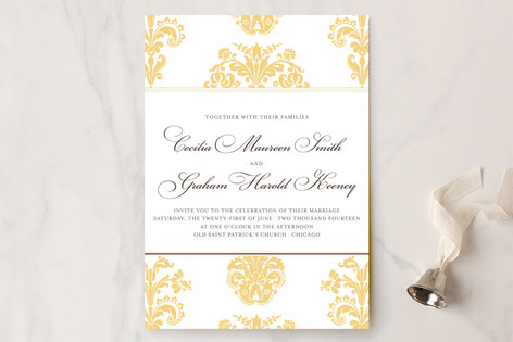 Float + Bridal Brocade Wedding Invitations