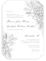 This is a grey wedding invitation by Paper Raven Co. called Loving with standard printing on signature in standard.