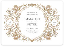 This is a brown wedding invitation by Jen Owens called Charmed with standard printing on signature in standard.