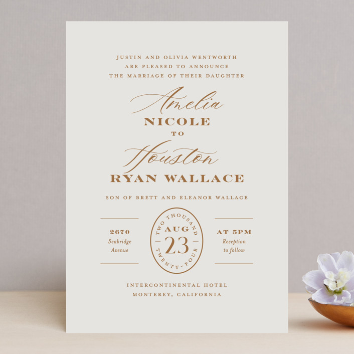 """""""Date Stamp"""" - Wedding Invitations in Wool by Jill Means."""