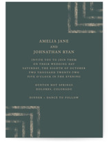 This is a green wedding invitation by Something Noir called Simply Modern with standard printing on signature in standard.