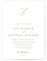 This is a orange wedding invitation by Jennifer Postorino called Delicate with standard printing on signature in standard.