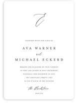 This is a purple wedding invitation by Jennifer Postorino called Delicate with standard printing on signature in standard.