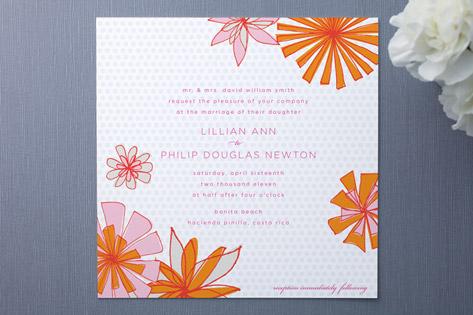 Pocket Full of Posies Wedding Invitations