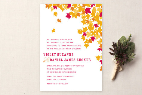 K-I-S-S-I-N-G Wedding Invitations