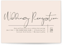 This is a pink wedding invitation by Jennifer Wick called Just the Two of Us with standard printing on signature in standard.