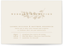 This is a yellow wedding invitation by Amy Kross called Falling Branch with standard printing on signature in standard.