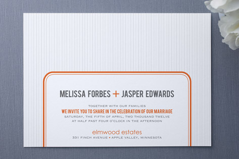 MR. AND MRS. Wedding Invitations