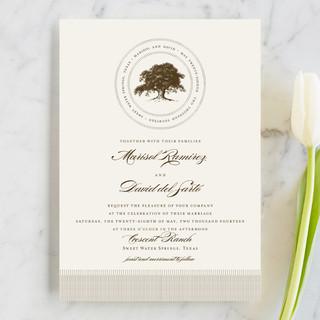 Modern Crest Wedding Invitations