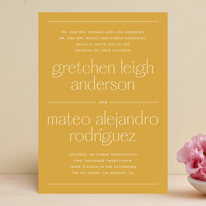 """""""goldfinch"""" - Wedding Invitations in Sunshine by Lindsay Stetson Thompson."""