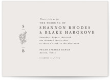 This is a beige wedding invitation by Sarah Brown called Herb Garden with standard printing on signature in standard.