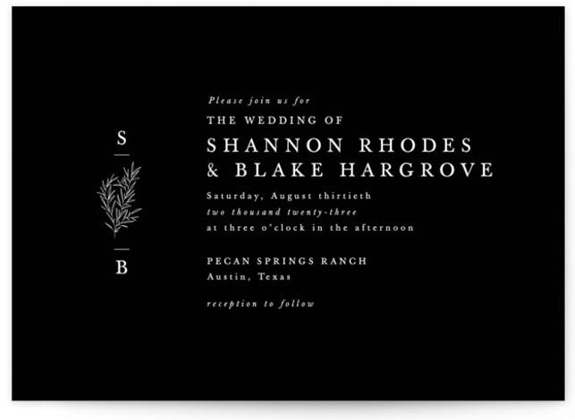 Herb Garden Wedding Invitations