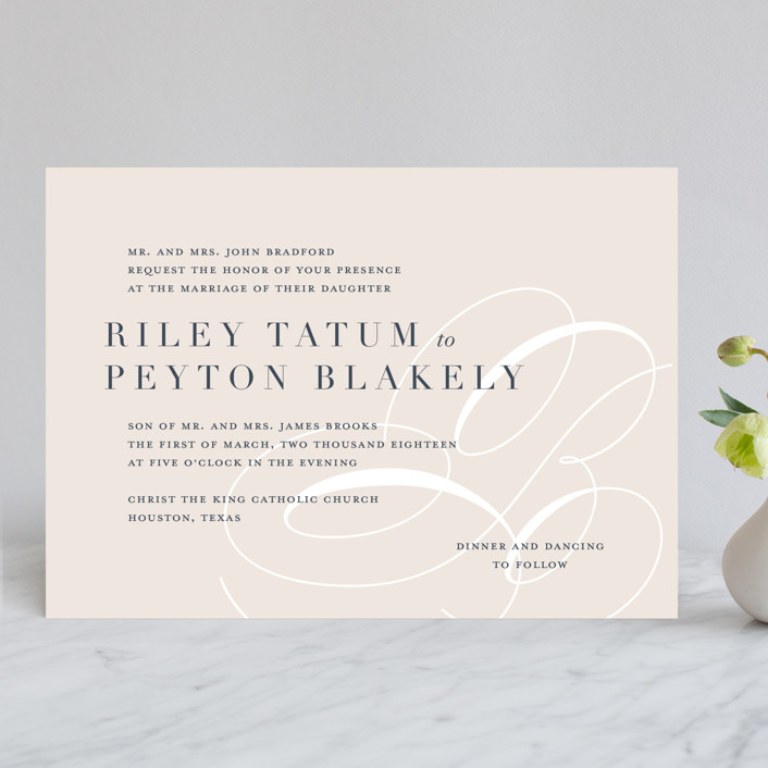 Fresh Monogram Wedding Invitations by Lauren Chism Minted