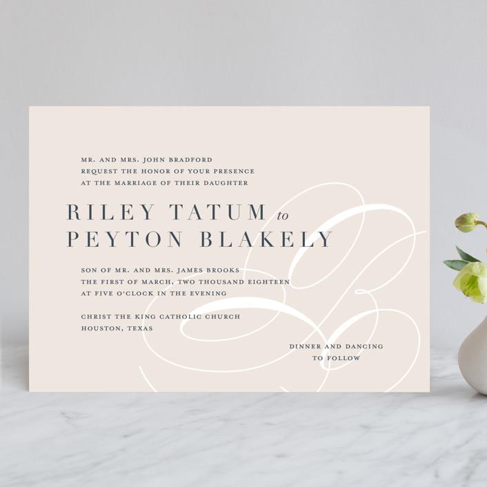 Fresh Monogram Wedding Invitations By Lauren Chism | Minted