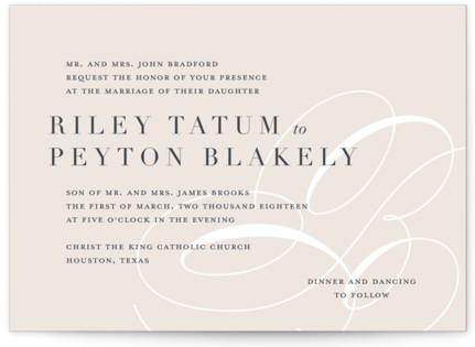 Fresh Monogram Wedding Invitations