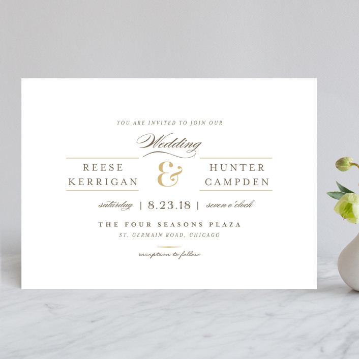 """Valencay"" - Elegant, Classical Wedding Invitations in Silk by chocomocacino."