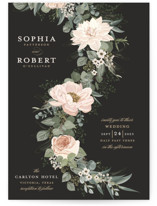 This is a pink wedding invitation by Susan Moyal called Lovely Vine with standard printing on signature in standard.