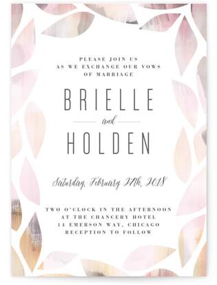 Cottage Leaf Wedding Invitations