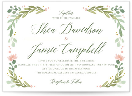 photo of Garden Glamour Wedding Invitations