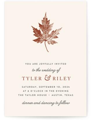 Leaf Print Wedding Invitations