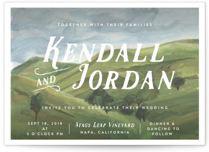 Rolling Hills Wedding Invitations