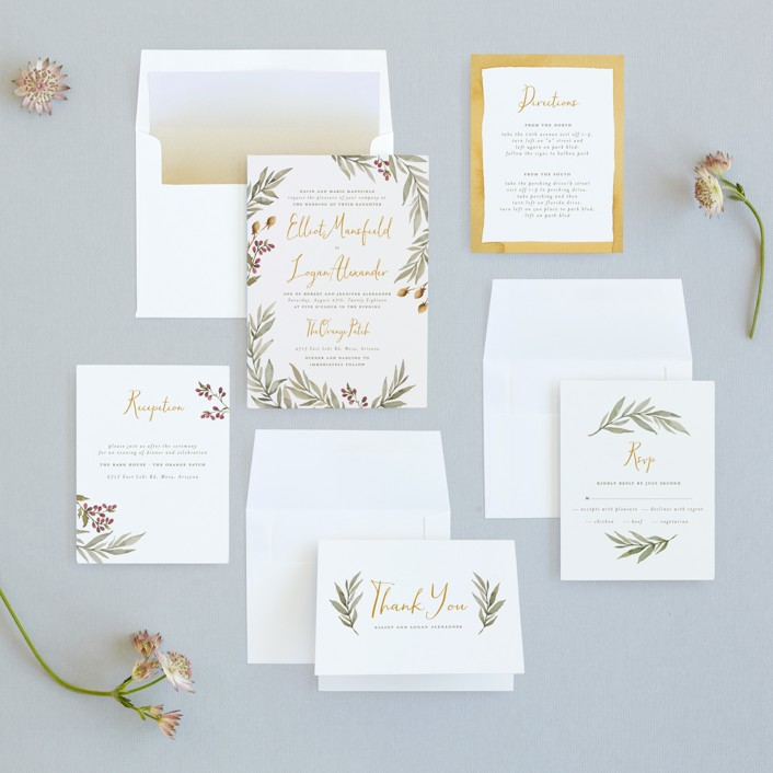 Summer Love Wedding Invitations by Wildfield Paper Co Minted