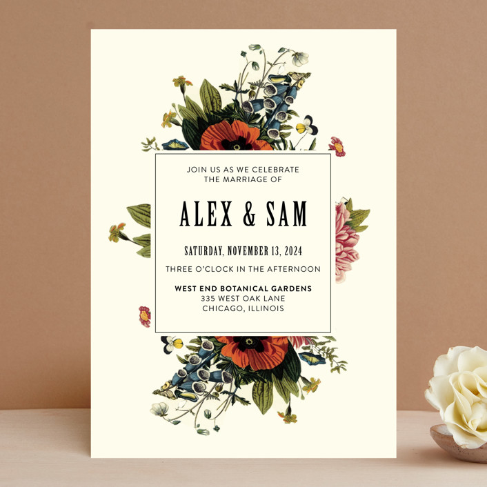 Vintage Garden Invite Wedding Invitations In Beige By Alisa Wismer