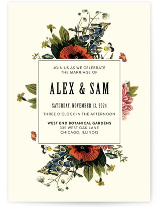 Vintage Garden Invite Wedding Invitations
