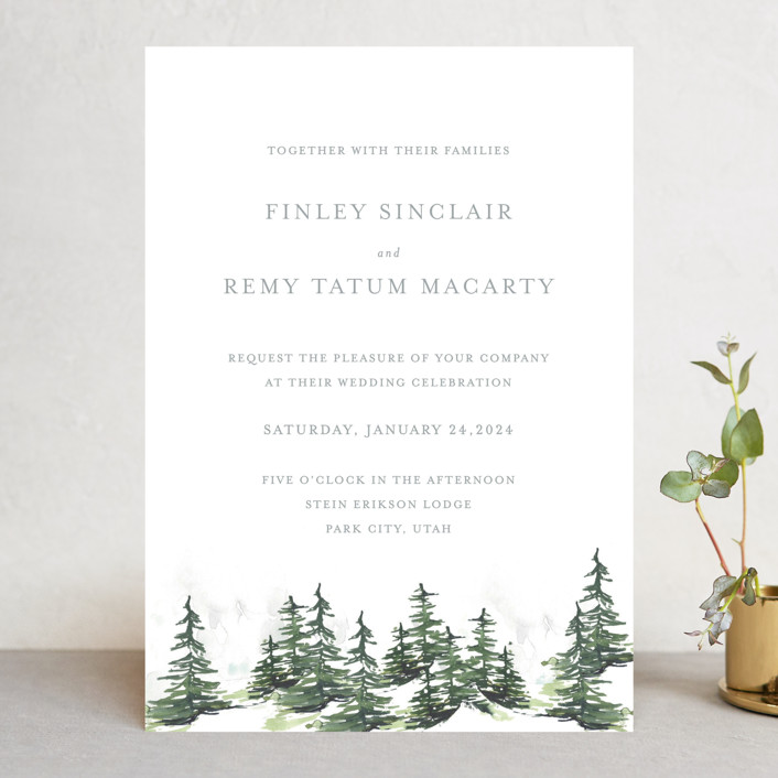 Utah Wedding Invitations: On The Slopes Wedding Invitations By Mere Paper