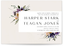 This is a white wedding invitation by Lori Wemple called ivi with standard printing on signature in standard.