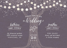 Garden Lights Wedding Invitations By Hooray Creative