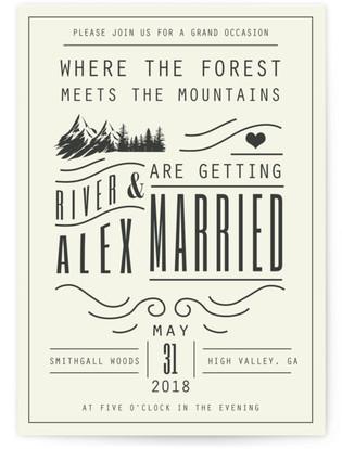 Mountain Affair Wedding Invitations