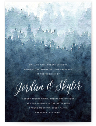 Mountain Retreat Wedding Invitations