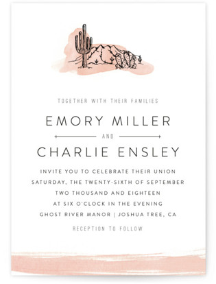 Painted Desert Wedding Invitations