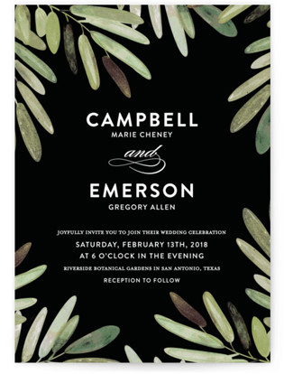 Parting Branches Wedding Invitations