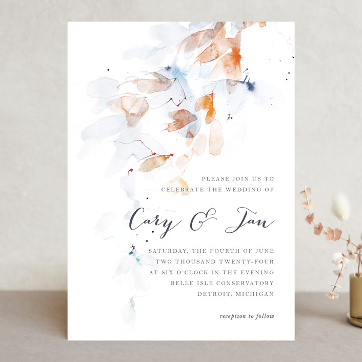 """Petale"" - Wedding Invitations in Blush by Kelly Ventura."