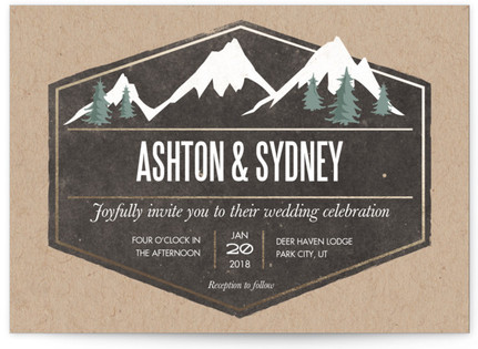 Rustic Mountain Wedding Invitations